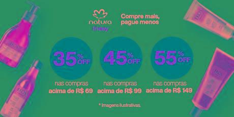 <p><strong>BLACK NOVEMBER:</strong> Até 55% de desconto em produtos Natura</p>
