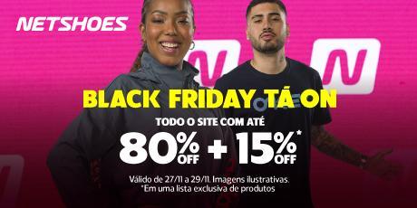 <p><strong>BLACK FRIDAY</strong>: Até 80% de desconto + 15% exclusivos</p>