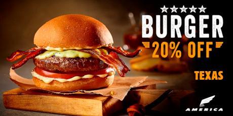 <p><strong>20% de desconto</strong> no Hambúrguer Texas</p>