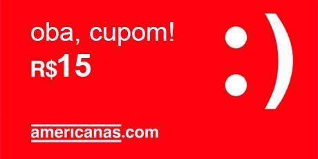 <p>R$15 OFF para compras no site Americanas.com</p>