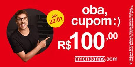 <p><strong>Cupom de R$100,00</strong> para compras no site</p>