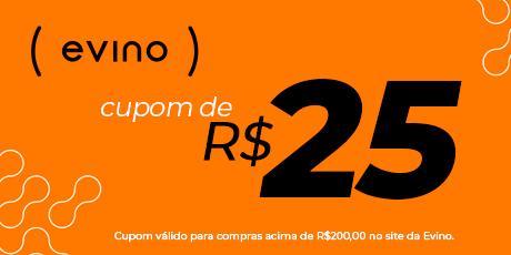 <p>R$25 OFF em compras no site da Evino</p>