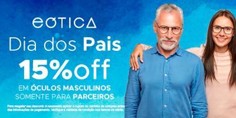 <p><strong>Cupom de 15% OFF</strong> para a compra de óculos no site</p>