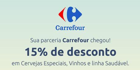 <p>15% OFF em itenssaudáveis, cervejas especiais evinhos.</p>