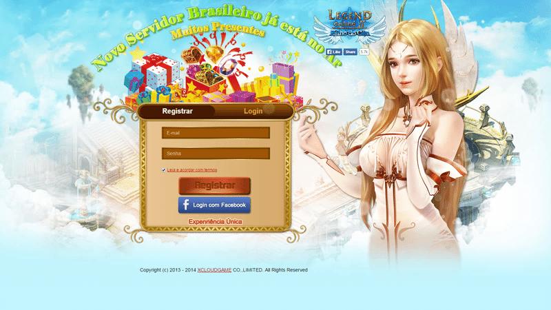 Faça login no jogo Legend Online;