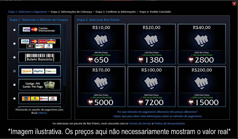 Selecione BoaCompra Golds ou Créditos Gold