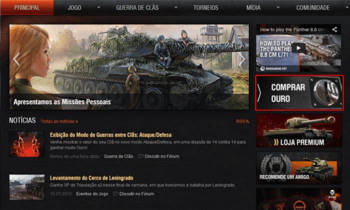 Na página do jogo, clique em