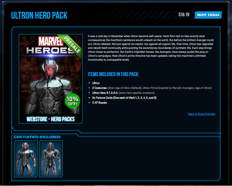 Marvel HEROES - PRESALE 10 POR CENTO OFF