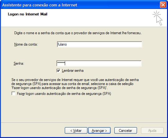 Digite a senha do seu e-mail BOL no campo Senha e clique em 'Avan�ar' (Next)