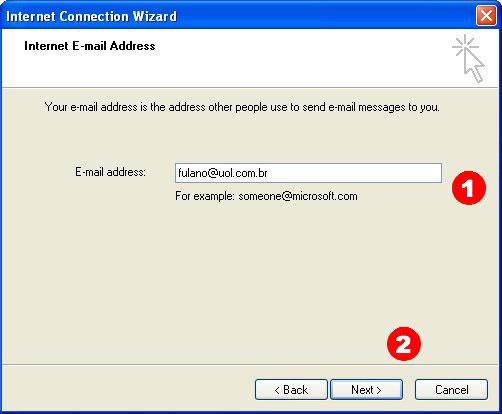 Coloque seu e-mail do UOL nesse campo e clique em 'Avan�ar' (Next)