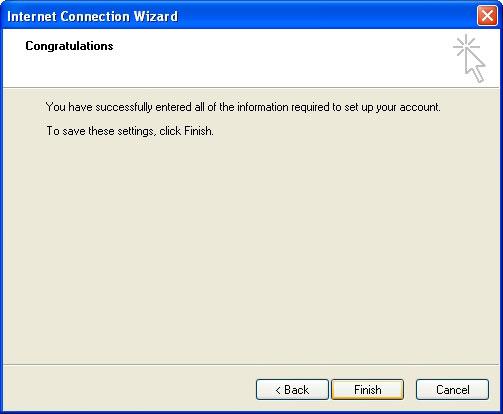 Voc� ver� uma tela de conclus�o, mas ainda faltam alguns passos para concluir a configura��o. Clique em 'Concluir' (Finish)